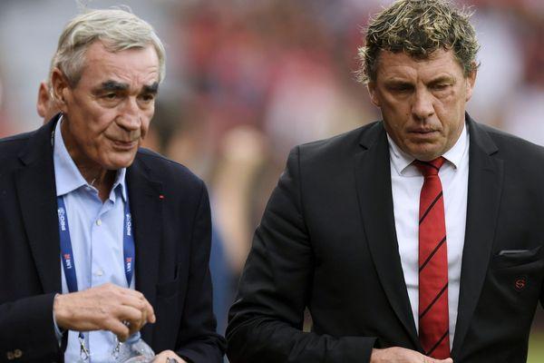 Pierre-Yves Revol et Didier Lacroix, présidents du Castres Olympique et du Stade Toulousain, ne peuvent que prendre acte de la fin de la saison de Top 14 de rugby décidée par le Premier ministre ce mardi.
