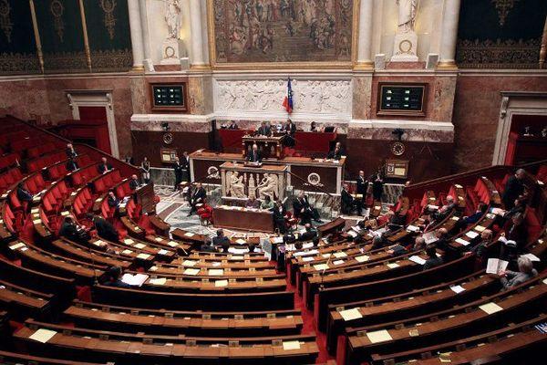 Les bancs de l'assemblée nationale