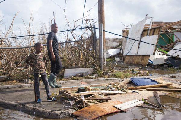 À Marigot comme partout sur l'île de Saint-Martin, les maisons ont été détruites par l'ouragan.