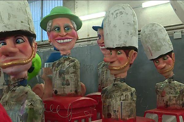 """96 """"Grosses Têtes"""" sont en préparation pour le Carnaval de Nice."""