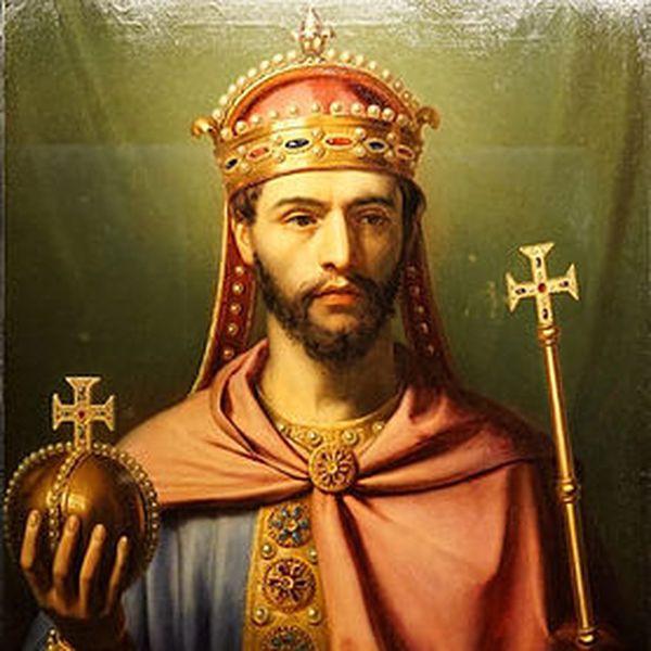 Jean-Joseph Dassy, 1837 : Louis Ier dit le Pieux (778-840), empereur d'Occident (huile sur toile)