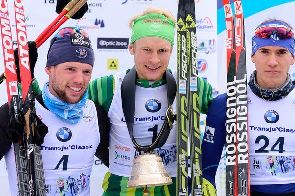 De gauche à droite Bastien BUTTIN (2e), Alexis Jeannerod (1er), Baptiste LORIET (3e)