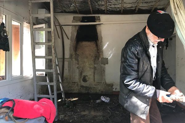 Saint-Julien-de-la-Nef - L'intérieur de la maison de Yolande totalement ravagé - 20.09.20