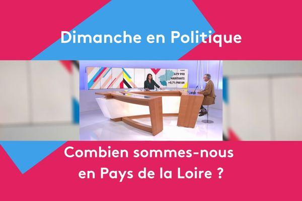 Combien sommes-nous en Pays de la Loire ? Réponse ce dimanche 24 janvier à 11h25 dans Dimanche en Politique