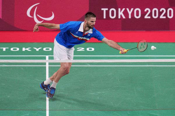 Lucas Mazur, lors de sa finale en simple aux Jeux paralympiques de Tokyo le 5 septembre 2021