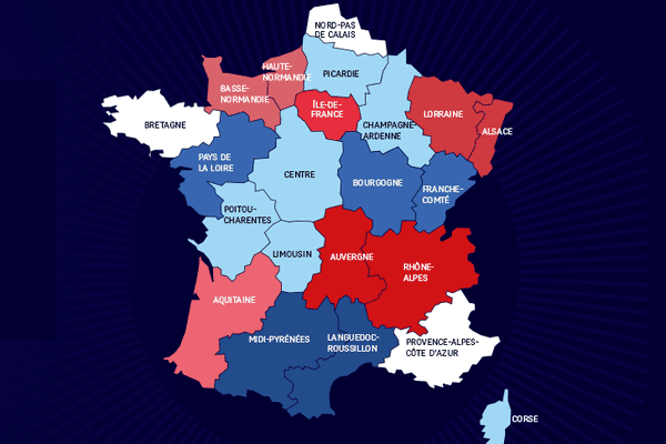 L'Elysée a publié cette carte des régions sur son site elysee.fr