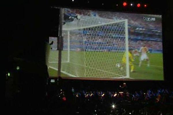 Le match de foot Croatie-Espagne mis en musique à la Philharmonie de Paris.