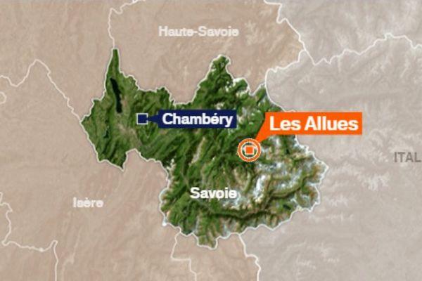 La commune Les Allues, en Savoie (73)
