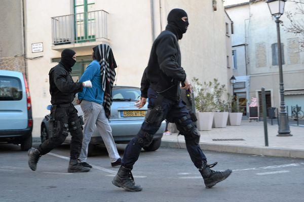 Opération anti-djihad à Lunel en 2015.