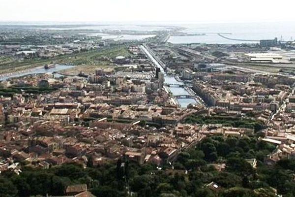 La ville de Sète vue du Mont Saint Clair