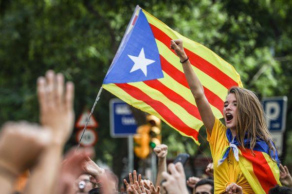 Manifestation en faveur de l'indépendance à Barcelone le 28 septembre 2017.