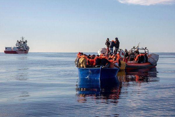 Février 2020. SOS Méditerranée vient en aide à 84 personnes au large de la Libye.