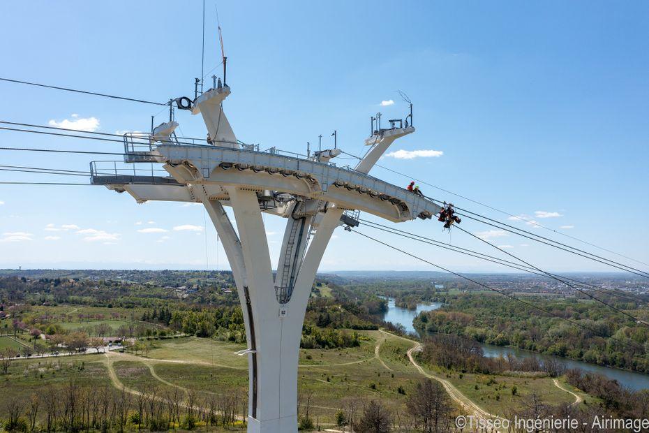 Toulouse : le chantier titanesque des câbles de Téléo est achevé, le téléphérique urbain bientôt opérationnel