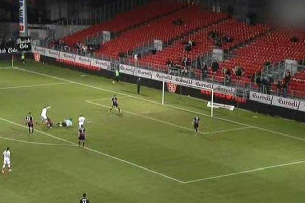 Les Crocos ont ouvert le score sur penalty à la 80ème minute du match avant que Brest égalise
