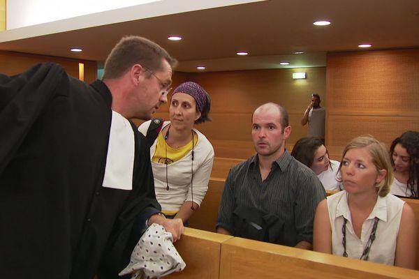 """Les deux """"décrocheurs"""" lors de leur jugement le 2 septembre dernier au Tribunal de grande instance de Lyon"""