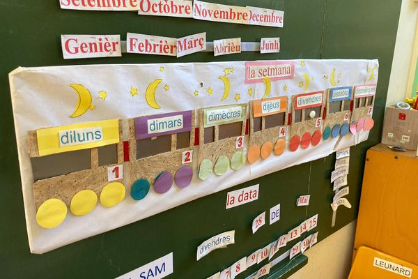Dans cette école d'Aurillac, les enseignements sont exclusivement en occitan.