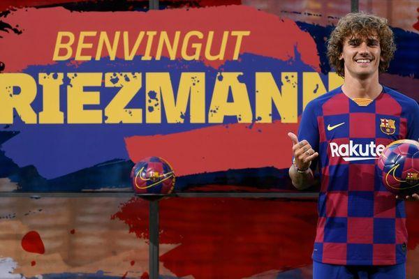 Le Mâconnais Antoine Griezmann a été présenté officiellement comme nouveau joueur du FC Barcelone le 14 juillet 2019