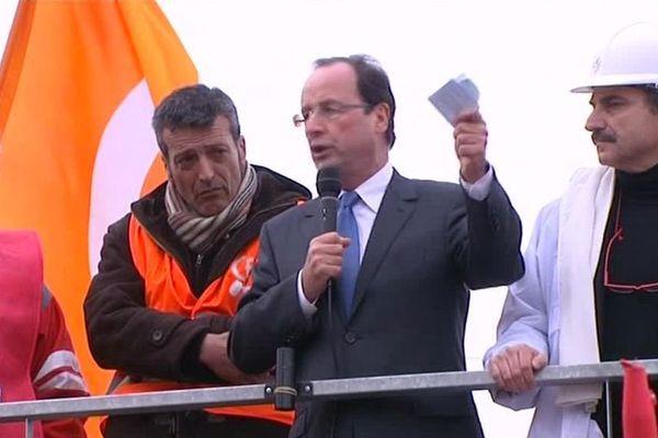 François Hollande à Florange en 2012.