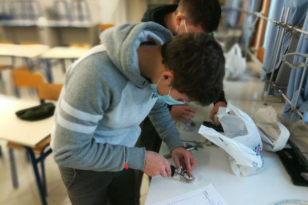 De retour au lycée, les étudiants étudient les huîtres en laboratoire