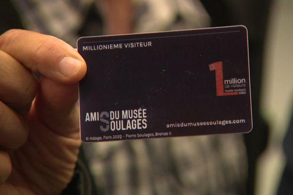 Le musée a reçu avec les honneurs une famille venue de l'Isère, millionième visiteur du lieu consacré à l'oeuvre de Pierre Soulages.