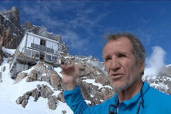 Frédi Meignan lors de l'ouverture du refuge qui fête ses 50 ans en juin 2016.