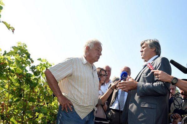 Stéphane Le Foll n'a rien annoncé de concret lors de sa visite dans le vignoble du libournais et de l'Entre-deux-mers