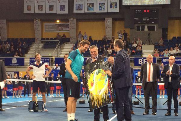 Norbert Gombos, vainqueur des Internationaux de tennis ATP ce dimanche 1er octobre à Orléans
