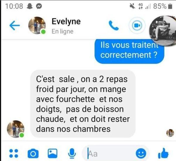 Evelyne Gruwé a donné quelques informations à son fils sur l'hôpital dans lequel elle a été transférée.