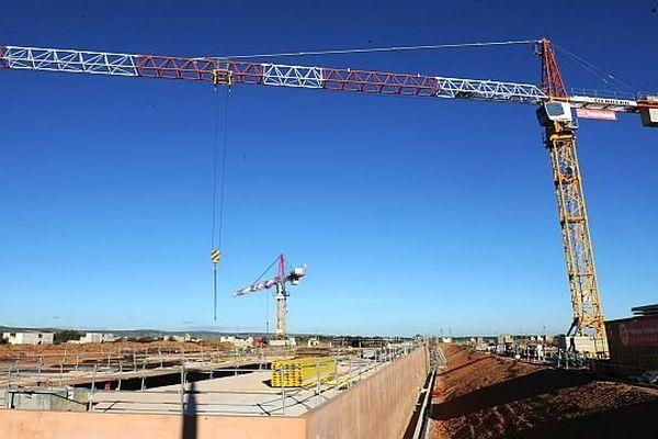 Rivesaltes (Pyrénées-Orientales) - chantier du futur Mémorial du camp de Rivesaltes - 6 décembre 2013.