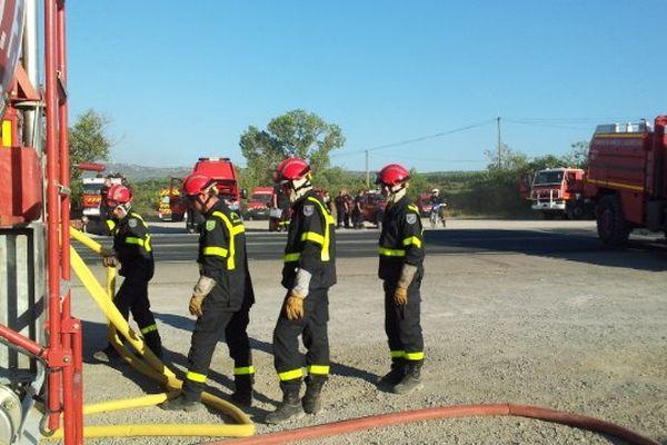 Le poste avancé des pompiers - juillet 2014.
