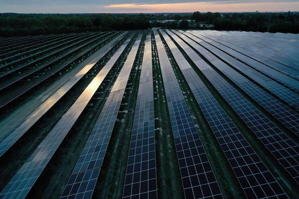 photo d'illustration. Exemple d'une centrale photovoltaïque