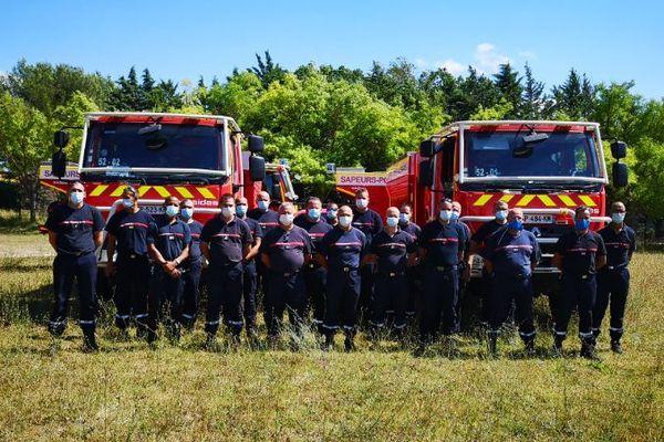 En tout, neuf pompiers aubois et douze pompiers hauts-marnais sont détachés dans les Bouches-du-Rhône.