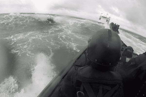 Les commandos de marine à l'entraînement
