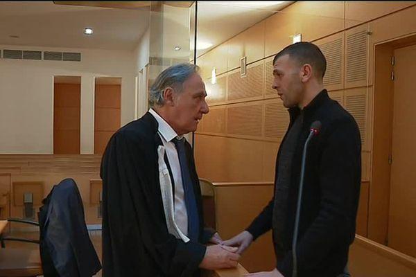 Ali Kaabouche et son avocat Maître Uzan