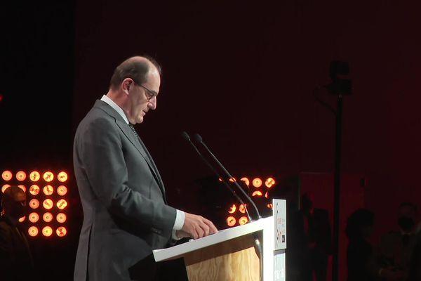 Le Premier ministre Jean Castex à l'inauguration du congrès HLM à Bordeaux ce mardi 28 septembre.