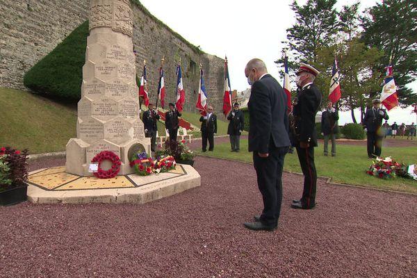 Dieppe le 19 août 2020 : cérémonie en hommage aux combattants du raid anglo-canadien.