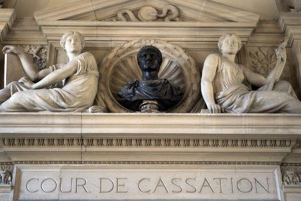 L'entrée de la Cour de cassation à Paris.