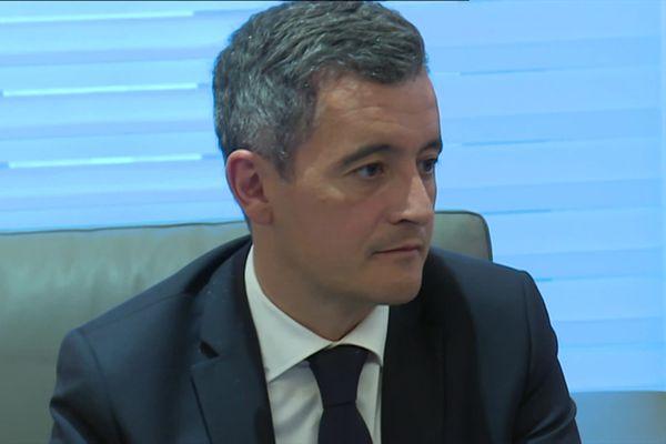 Géarld Darmanin, le ministre de l'Intérieur, lors de sa visite à Nice ce 13 juillet.