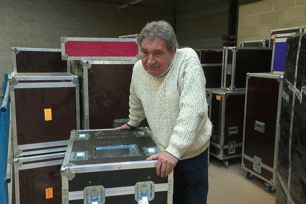 Alain Dorval dans son entreprise de Chambly.