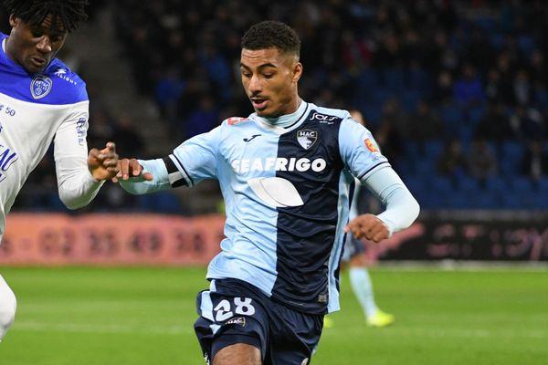 Loïc Badé sous le maillot du Havre en janvier dernier.
