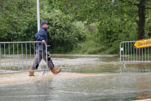 Des inondations à Saint-Fargeau-Ponthierry, en Seine-et-Marne.