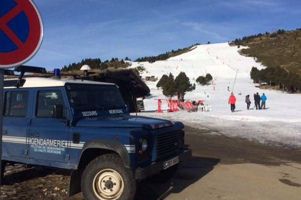 La station de ski de Font-Romeu, dans les Pyrénées-Orientales. Les gendarmes sur place ce matin - 27 décembre 2016