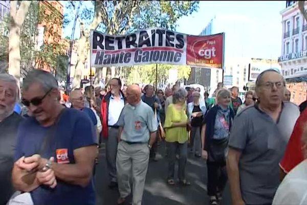 Les retraités ont manifesté dans de nombreuses villes de France comme ici à Toulouse