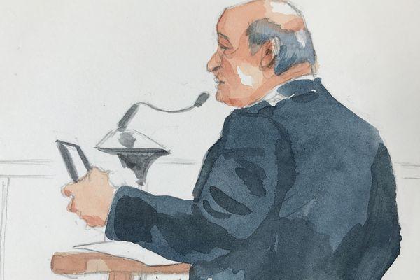 Le gendarme expert en téléphonie, à la barre de la cour d'assises de Reims, le 7 avril 2021.