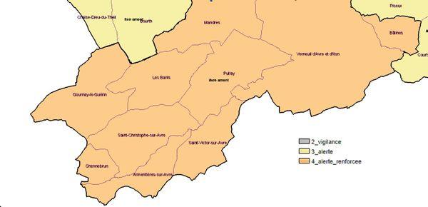 Les 10 communes de l'Eure concernées par l'alerte renforcée sécheresse au 1er août 2019