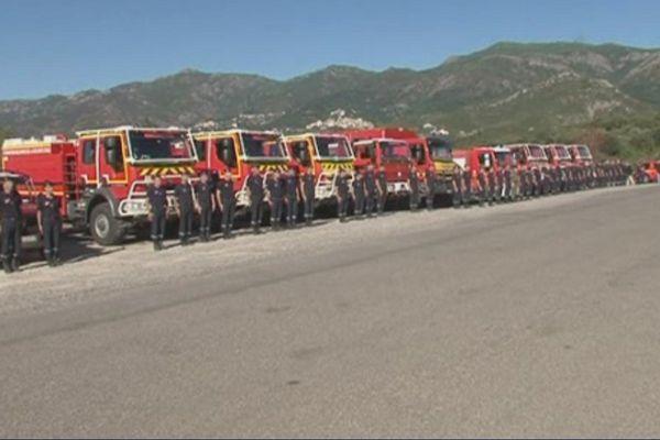 Les pompiers de la plaine d'Oletta, le 1er août