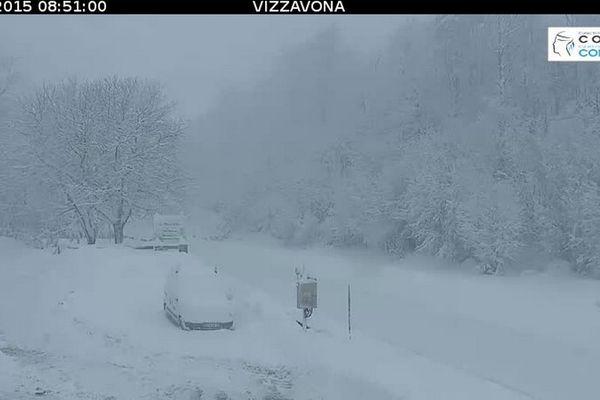 07/02/15, 8h50 - Le col de Vizzavona (1.163m), sur la RN 193 reliant Ajaccio à Bastia
