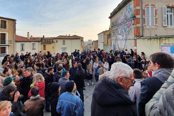 Sète : blocus des épreuves de contrôle continu du Bac au lycée Paul Valéry - 27 janvier 2020.