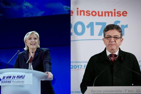 Marine Le Pen / Jean-Luc Mélenchon
