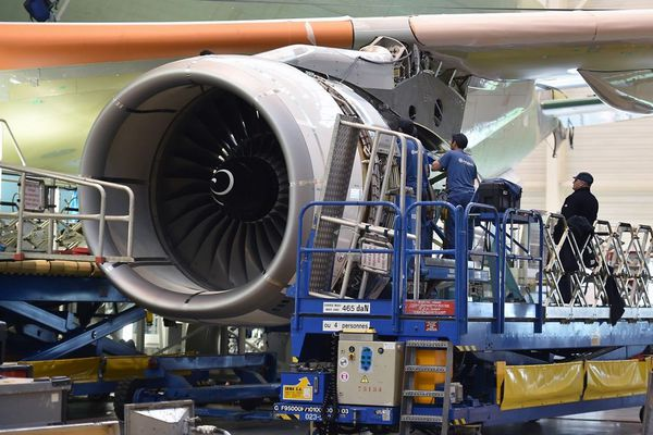 Chaine d'assemblage d'Airbus à Toulouse